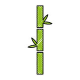 Bamboo stem natural icon Stock Image