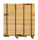Bamboo stick. Straw mat wooden textured Royalty Free Stock Image