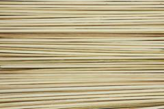 Bamboo stick Skewer sticks for grilling or barbeque background texture stock photography