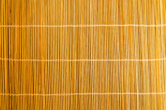 Bamboo stick straw mat texture. To background Royalty Free Stock Images