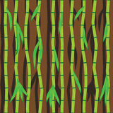 Bamboo sticks and leaves. Abstract seamless vector Stock Images