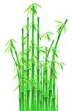 Bamboo sticks over white background Stock Photography