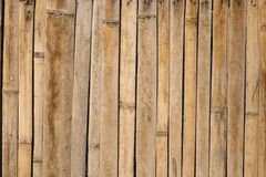 Bamboo sticks panel Royalty Free Stock Photography