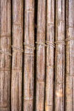 Bamboo sticks with a rope Royalty Free Stock Images