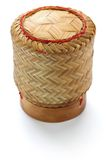Bamboo sticky rice container Royalty Free Stock Images