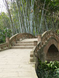 Bamboo and stone bridge Royalty Free Stock Image