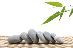 Bamboo and  stones Royalty Free Stock Images