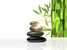 Bamboo and stones - spa background Stock Images