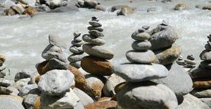 bamboo stones zen royaltyfria bilder
