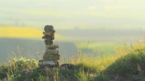 bamboo stones zen απόθεμα βίντεο