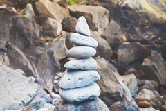 bamboo stones zen Стоковая Фотография RF