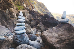 bamboo stones zen Стоковое Изображение
