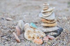 bamboo stones zen 免版税图库摄影