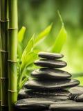 bamboo stones zen 免版税库存图片