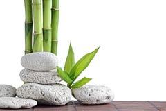 bamboo stones zen Στοκ Φωτογραφίες