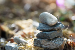 bamboo stones zen 免版税库存照片