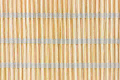 Bamboo straw mat Royalty Free Stock Image