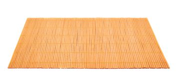 Bamboo straw serving mat isolated Royalty Free Stock Photo