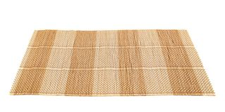 Bamboo Straw Serving Mat Isolated Royalty Free Stock Image