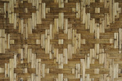 Bamboo straw texture background. With rhombus Royalty Free Stock Photography
