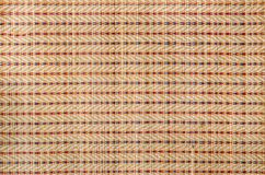 Bamboo strip. Asian ethnic or ethnicity concept. Flax thread wired bamboo mat background makes in shades of beige Stock Photos