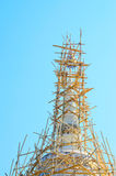 Bamboo Structure for Repair pagoda in Chiangmai. Royalty Free Stock Photos