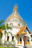 Bamboo Structure for repair pagoda in Thailand. Royalty Free Stock Photography