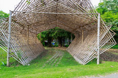 Bamboo structures Stock Images
