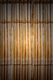 Bamboo style old fence, dirty bamboo surface stock photography