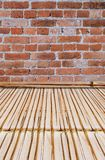 Bamboo style old fence, dirty bamboo surface royalty free stock photos