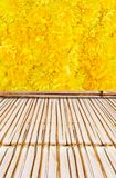 Bamboo style old fence, dirty bamboo surface royalty free stock photography