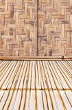 Bamboo style old fence, dirty bamboo surface royalty free stock images