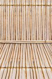 Bamboo style old fence, dirty bamboo surface stock image