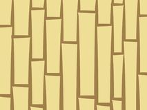 Bamboo stylized abstract background. Asian wooden fence or curta. In, suitable for booklet decoration, vector pattern. Yellow and brown poles texture, vertically Royalty Free Stock Photos
