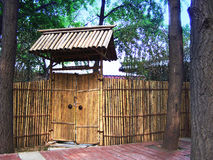 Bamboo summer house Stock Image