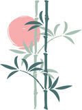 Bamboo with a Sun on Background. Including Vector Format vector illustration