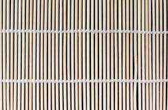 Bamboo Sushi Rolling Mat Texture. Japanese bamboo sushi rolling mat texture closeup stock photos