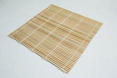 Bamboo Sushi Rolling Mat Royalty Free Stock Images