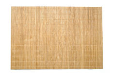 Bamboo table mat background texture Royalty Free Stock Photography