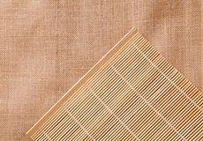 Bamboo tablecloth Stock Image