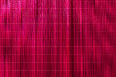 Bamboo tablecloth pink Royalty Free Stock Photography