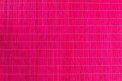 Bamboo tablecloth pink Stock Photos