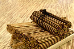 Bamboo tablemat Royalty Free Stock Photo