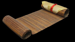 Bamboo tablets. Art of war by Sun Zi or Sun Zi Bing Fa stock photography