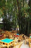 Bamboo tea house stock photography