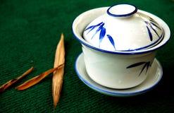 Bamboo tea house stock photos