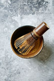 A bamboo tea whisk for matcha tea Stock Photography