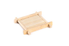 Bamboo teacup serving tray for tea ceremony Stock Image