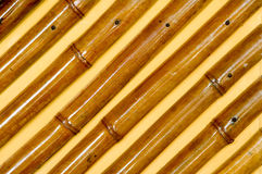 Bamboo Texture. Bamboo texture over orange background Royalty Free Stock Photography