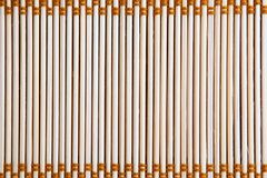 Bamboo texture. Closeup view of a hand-crafted bamboo tablemat royalty free stock image